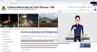 A CÂMARA MUNICIPAL DE TRÊS PASSOS DISPONIBILIZA EM SEU PORTAL A FERRAMENTA VLIBRAS PARA TRADUÇÃO DOS TEXTOS NA LÍNGUA BRASILEIRA DE SINAIS