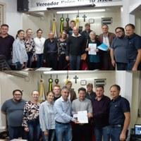 Aprovados os projetos de lei que denominam as ruas Alcides Braun e Paulo Severo Simsen