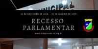 Com o início do Recesso Parlamentar é formada a Comissão Representativa
