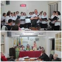 Coral da 3ª idade e CTG Missioneiro dos Pampas marcaram o início das atividades legislativas