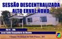 Sessão Descentralizada - Distrito Alto Erval Novo